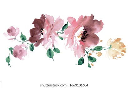 Fiori Watercolor.Fiori Rami Images Stock Photos Vectors Shutterstock