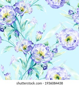 Flowers watercolor illustration.Manual composition.Seamless pattern.Design for cover, fabric, textile, wrapping paper .