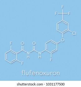 Chemistry formula images stock photos vectors shutterstock flufenoxuron insecticide molecule skeletal formula altavistaventures Image collections
