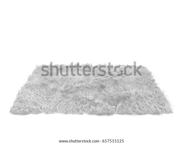 ふわふわしたカーペット 白い背景に3dイラスト のイラスト素材
