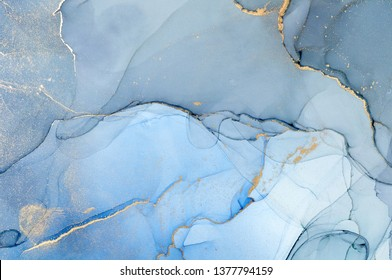 Fluid Art . Abstract colorful background, wallpaper. Mixing acrylic paints. Modern art. Marble texture. Alcohol ink colors  translucent