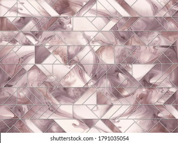 Fluid Art and geometric pattern. Abstract multicolored marble texture background. Alcohol Ink Pattern.