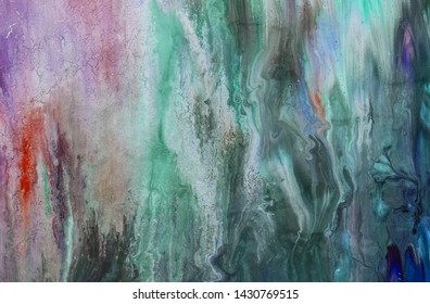 Fluid Painting Texture. Marbleized effect. Abstract background of acrylic paint. Magic Art, wallpaper, texture. Mixing paints Alcohol ink modern abstract painting, modern contemporary art. Liquid art