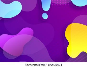 Fluid purple background with gradient element