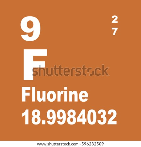 Fluorine Periodic Table Elements Stock Illustration 596232509