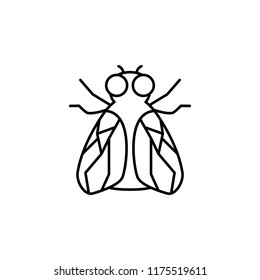 fly icon. Element of pest icon for mobile concept and web apps. Thin line fly icon can be used for web and mobile