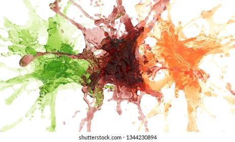 fly spray juice. 3d rendering