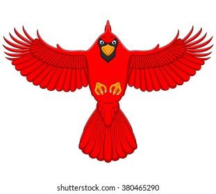 flying cardinal cartoon