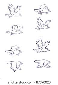 Flying eagle - symbol of freedom