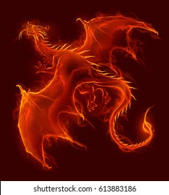 Flying fire dragon