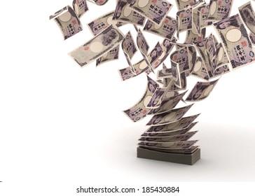 Imágenes, fotos de stock y vectores sobre Japan Money