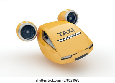 Flying on turbines taxicab illustrate the great speed of delivery the client
