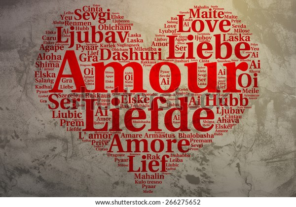Focus On French Amour Word Cloud Stock Illustration 266275652