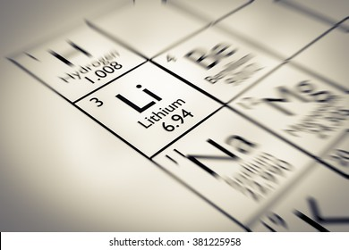 Focus on Lithium Chemical Element from the Mendeleev periodic table