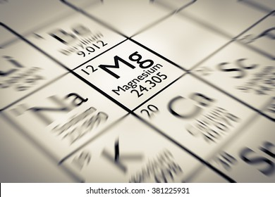 Focus on Magnesium Chemical Element from the Mendeleev periodic table