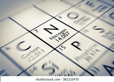 Focus on Nitrogen Chemical Element from the Mendeleev periodic table