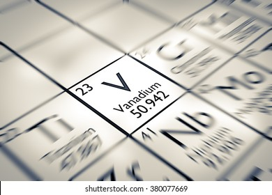 Focus on Vanadium Chemical Element from the Mendeleev periodic table