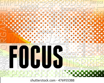 Focus Words Indicating Focused Concentrate And Concentrating