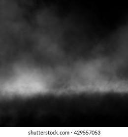 Fog effect on black background.
