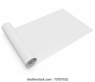 Blueprint paper images stock photos vectors shutterstock folded blank scroll of paperblueprint isolated over white background with slight shadow malvernweather Gallery