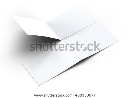 Folded Business Card Mockup 3D Illustration