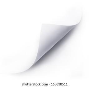 folded white paper sheet