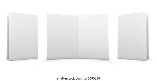 Folder - cover and inside. Isolated on white.