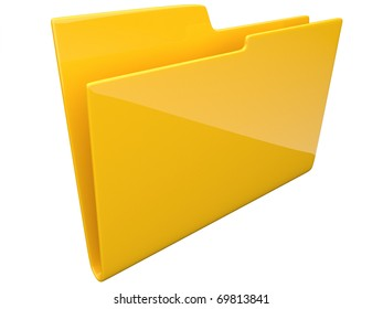 Folder. Directory. empty 3D -  isolated