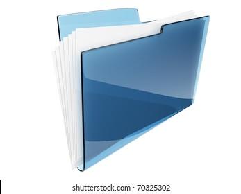 Folder. Directory. file 3D -  icon
