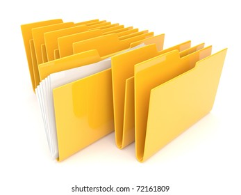 Folder. Directory. File 3D isolated