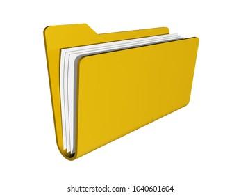 folder  organization 3D illustration