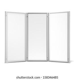 Folding screen banner