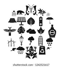 Foliage icons set. Simple set of 25 foliage icons for web isolated on white background