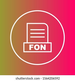 FON file Isolated On Abstract Background