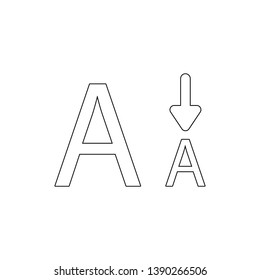 font letter size smaller type outline icon. Signs and symbols can be used for web, logo, mobile app, UI, UX
