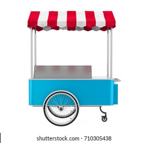 Food Cart Isolated. 3D rendering