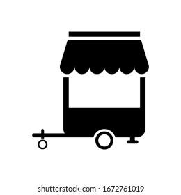 Food Cart. Simple modern icon design illustration.