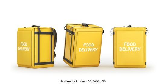 food delivery bag, 3d illustration