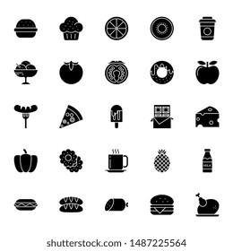 Food - Glyph icons set