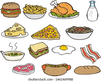 A Food Icons Full Color