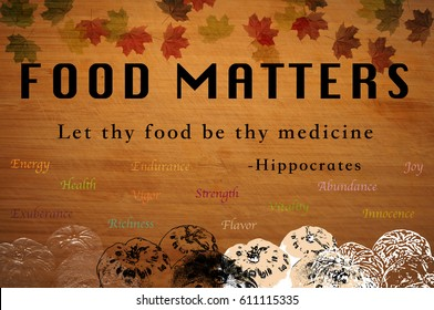 Food Matters Poster Motivation with Hippocrates Oath