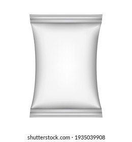 Food snack pillow bag on white background.  illustration. Can be use for template your design, promo, adv.
