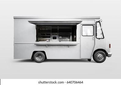 Food truck. 3D rendering