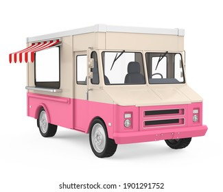 Food Truck Isolated. 3D rendering