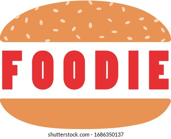 Foodie logo with burger patty looking like burger king