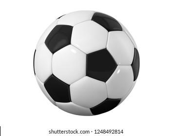 football bal. Realistic soccer ball on white background. 3d Style  sport ball isolated on white background.