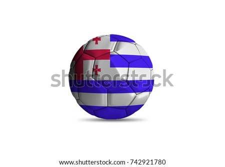 football ball with the national flag of Ajaria ball with white background