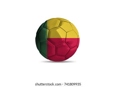 football ball with the national flag of Benin ball with white background