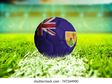 football ball with the national flag of Cote ball with Green grass background