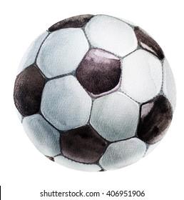 football ball watercolor